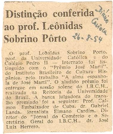 Diário Carioca, 26 de augusto 1954